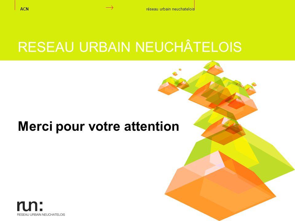 RESEAU URBAIN NEUCHÂTELOIS Merci pour votre attention ACN réseau urbain neuchatelois
