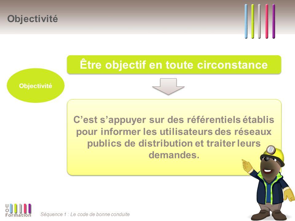 Séquence 1 : Le code de bonne conduite Cest sappuyer sur des référentiels établis pour informer les utilisateurs des réseaux publics de distribution e