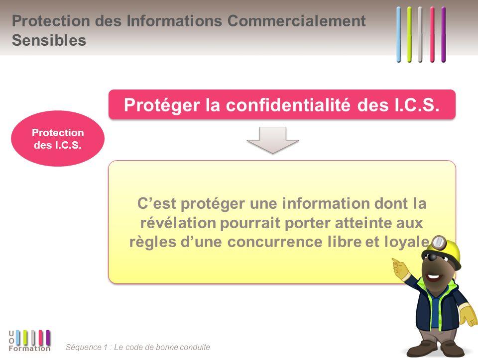 Séquence 1 : Le code de bonne conduite Cest protéger une information dont la révélation pourrait porter atteinte aux règles dune concurrence libre et