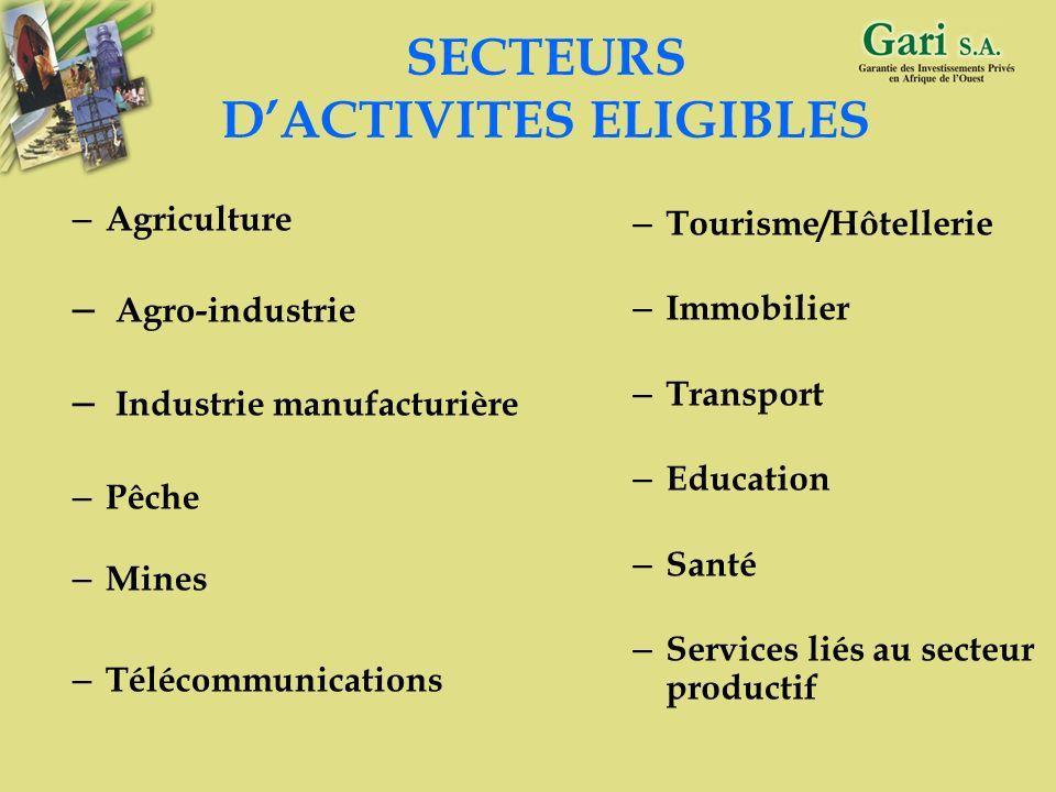 14 OBJECTIF DU GARI Contribuer à la promotion et au développement du secteur privé et du secteur public marchand au sein de la CEDEAO, en apportant de