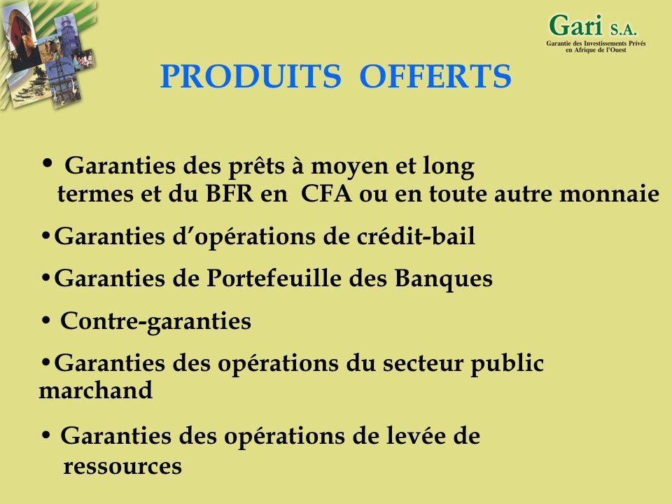 16 OPERATIONS GARANTIES * Création d entreprise * Extension et Modernisation * Amélioration de la productivité * Transfert de propriété * Restructurat