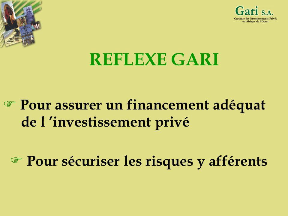 37 CONCLUSION Spécificité du GARI : garantie de perte finale et non garantie de défaut de paiement Avantages du mécanisme : partage des risques et des
