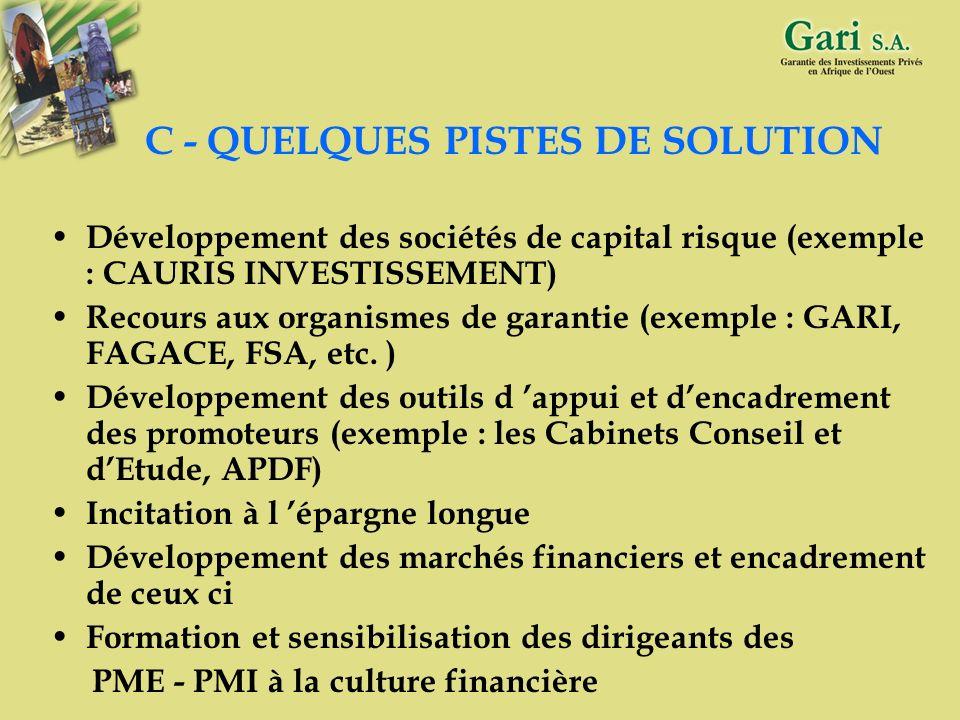5 B – DIFFICULTES DE FINANCEMENT DES PME / PMI Insuffisance de fonds propres Insuffisance de capacités managériales Incapacité à fournir une documenta