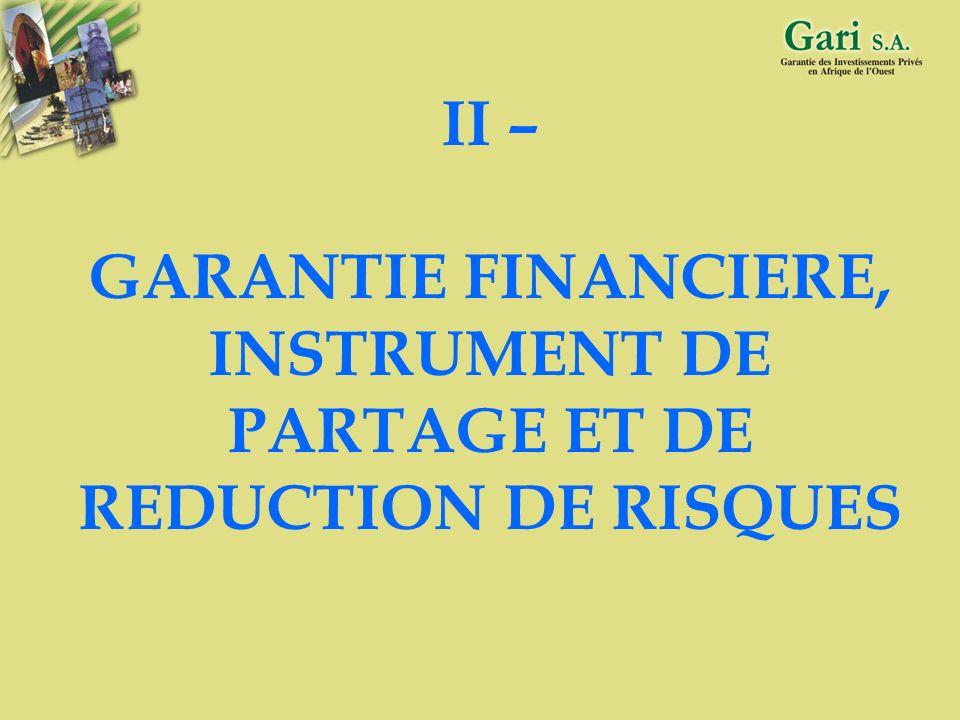 6 C - QUELQUES PISTES DE SOLUTION Développement des sociétés de capital risque (exemple : CAURIS INVESTISSEMENT) Recours aux organismes de garantie (e