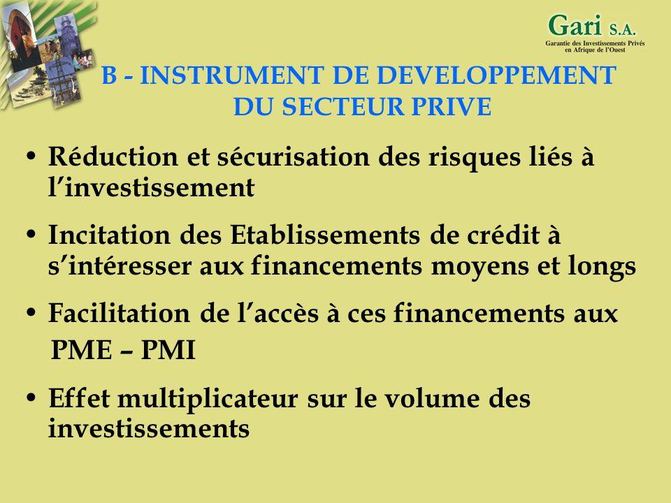 8 A - INSTRUMENT DE PARTAGE ET DE REDUCTION DES RISQUES Protéger le prêteur contre les éléments imprévisibles Améliorer le ratio de solvabilité et la