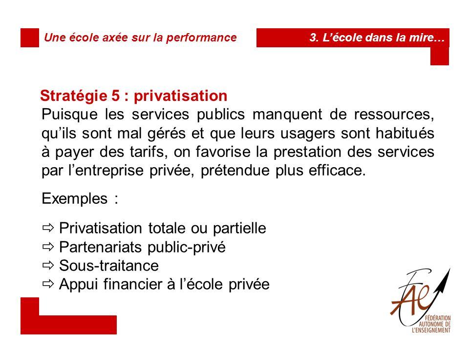 Stratégie 6 : désyndicalisation et précarisation Les programmes sociaux et les organismes publics reposent sur du personnel nombreux et qualifié.