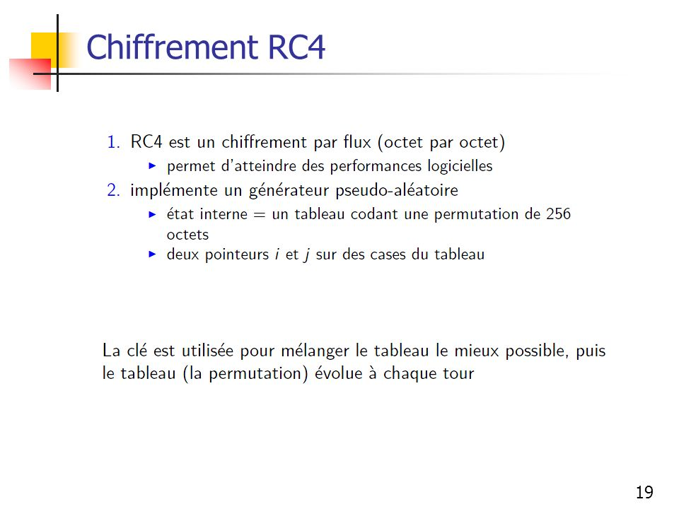 19 Chiffrement RC4