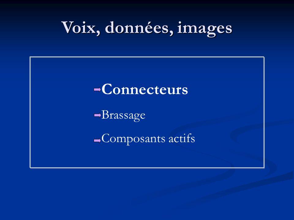 Voix, données, images Connecteurs Brassage Composants actifs