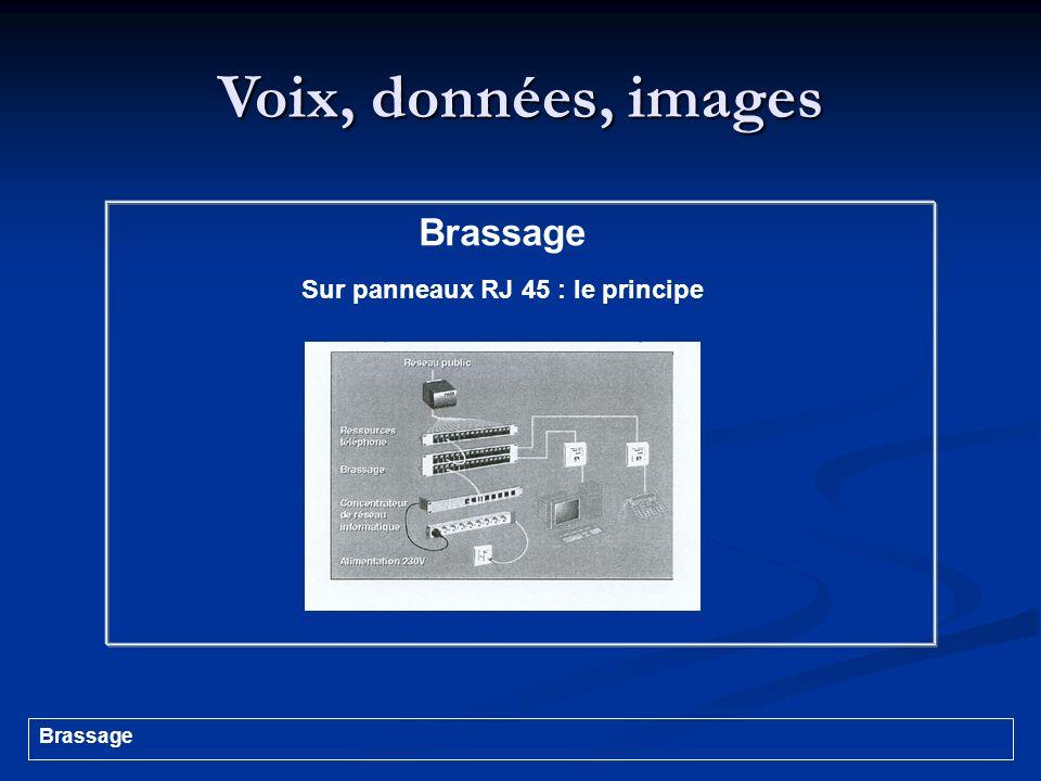 Voix, données, images Brassage Sur panneaux RJ 45 : le principe Brassage