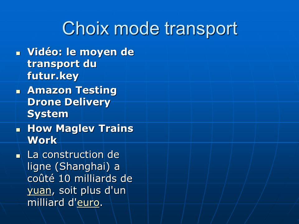 Choix mode transport Vidéo: le moyen de transport du futur.key Vidéo: le moyen de transport du futur.key Amazon Testing Drone Delivery System Amazon T