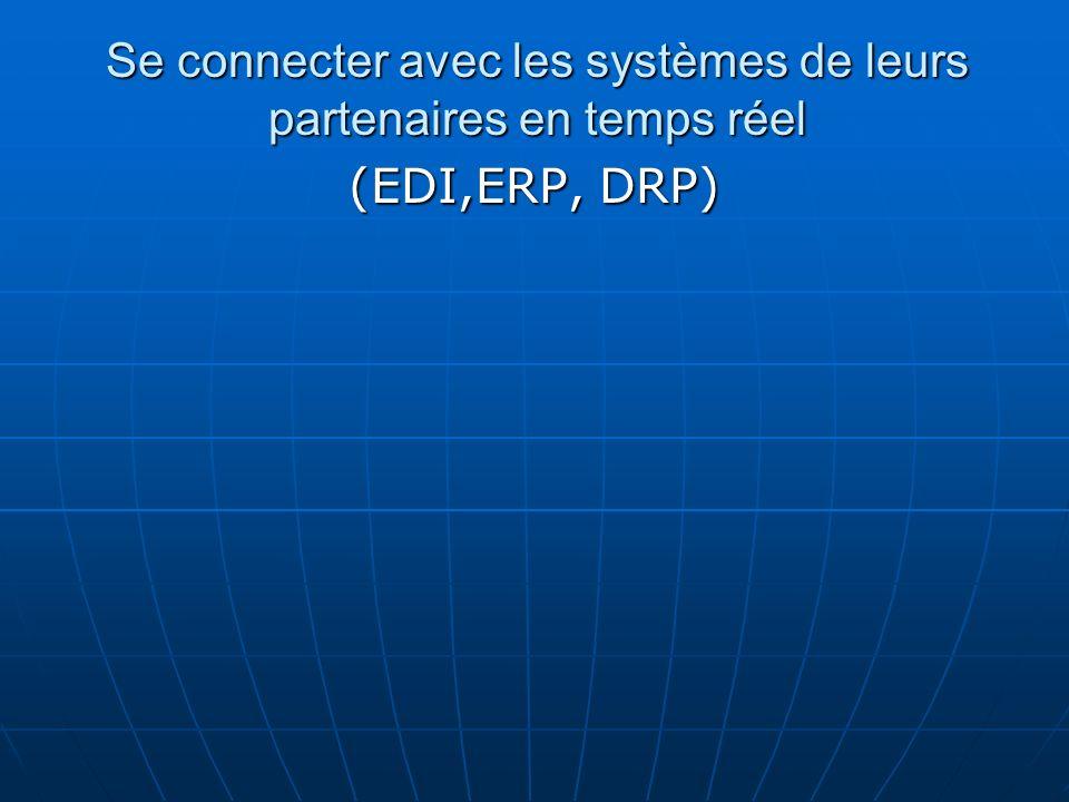 Se connecter avec les systèmes de leurs partenaires en temps réel (EDI,ERP, DRP)