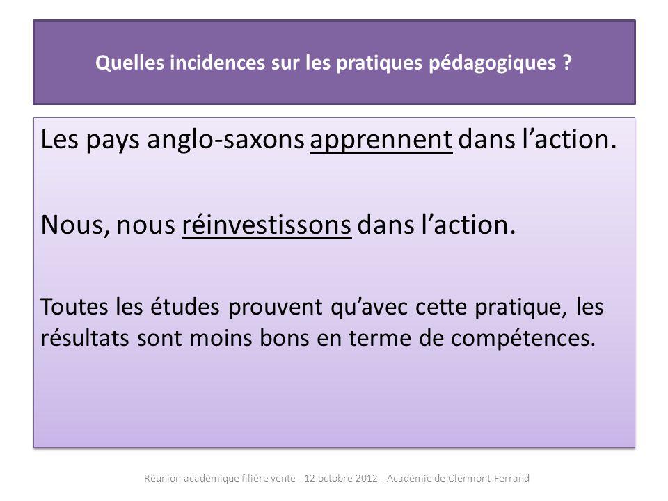 Quelles incidences sur les pratiques pédagogiques .