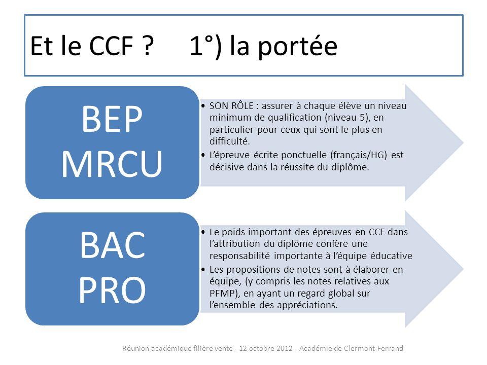 Et le CCF .