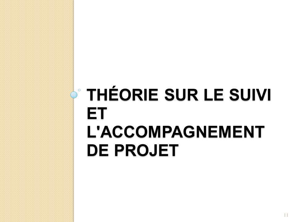 THÉORIE SUR LE SUIVI ET L'ACCOMPAGNEMENT DE PROJET 11