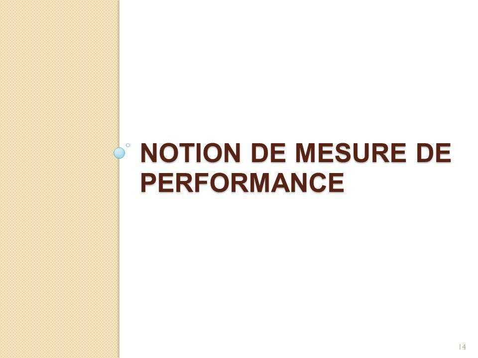 NOTION DE MESURE DE PERFORMANCE 14