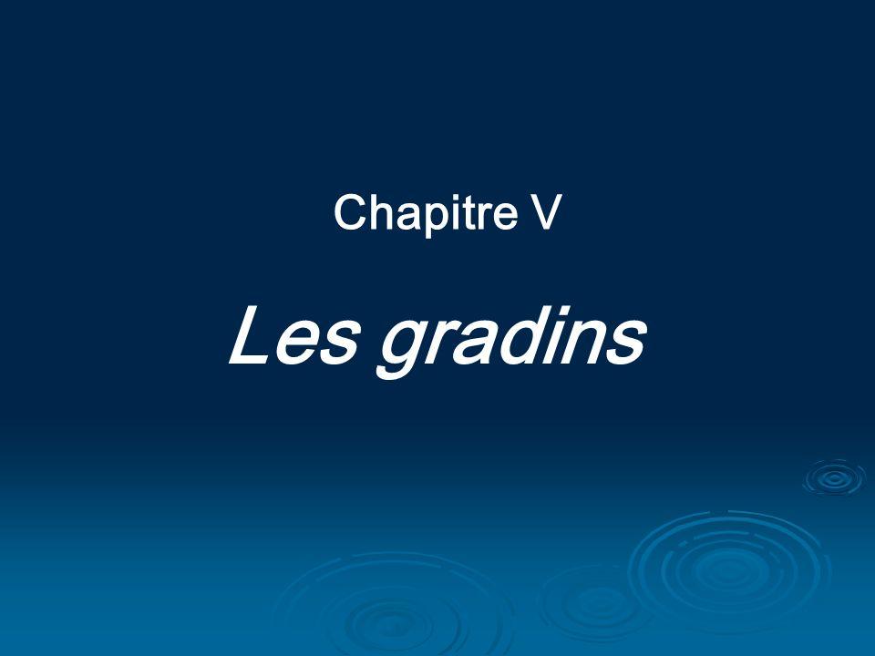 Chapitre V Les gradins