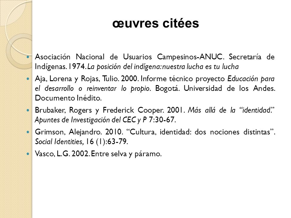 Asociación Nacional de Usuarios Campesinos-ANUC.Secretaría de Indígenas.