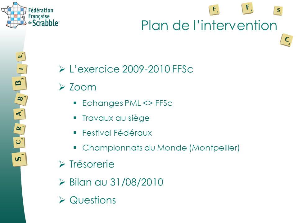 Bilan financier FFSc Présentation de Thierry BAYLE Trésorier FFSc