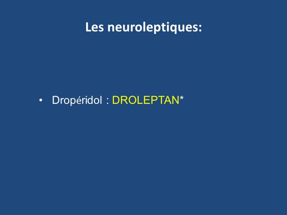 Les neuroleptiques: Drop é ridol : DROLEPTAN*
