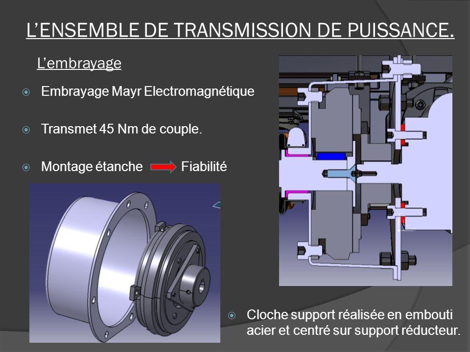 Embrayage Mayr Electromagnétique Transmet 45 Nm de couple. Montage étanche Fiabilité LENSEMBLE DE TRANSMISSION DE PUISSANCE. Lembrayage Cloche support