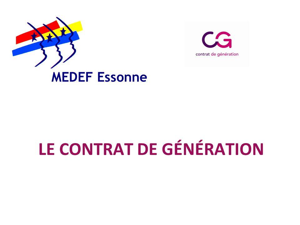 LE CONTRAT DE GÉNÉRATION MEDEF Essonne