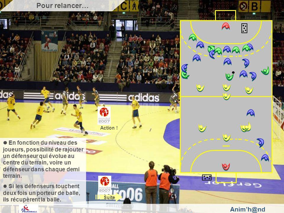 Animh@nd En fonction du niveau des joueurs, possibilité de rajouter un défenseur qui évolue au centre du terrain, voire un défenseur dans chaque demi terrain.