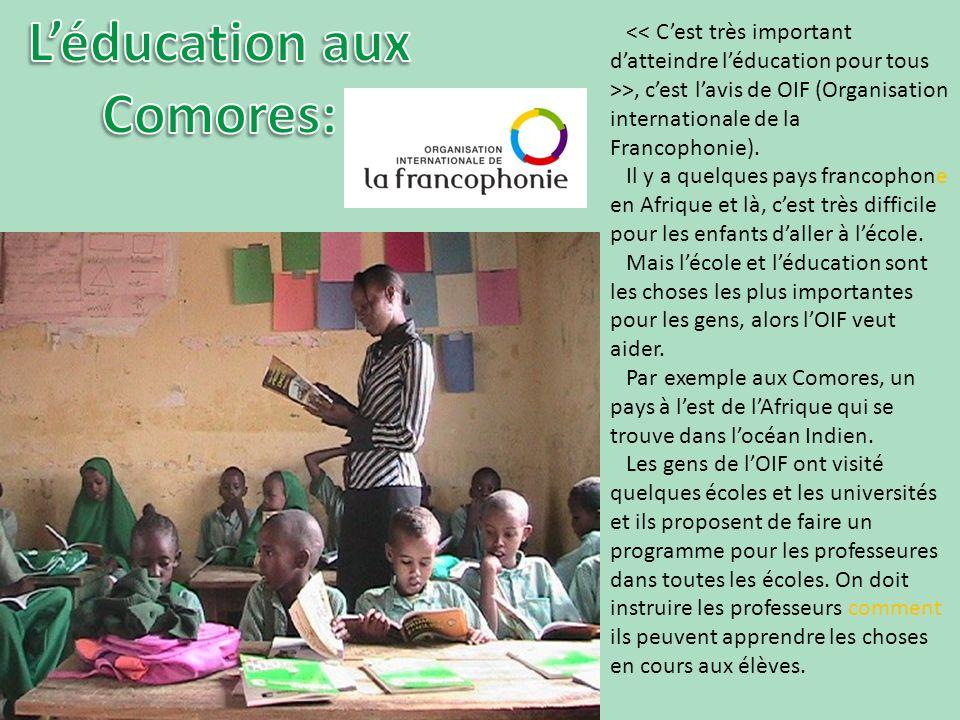 >, cest lavis de OIF (Organisation internationale de la Francophonie).