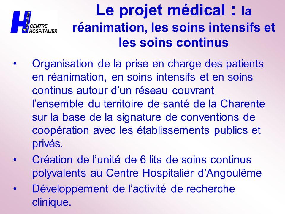 Le projet médical : pédiatrie - néonatalogie répondre à laugmentation des soins urgents aux enfants ; organiser ainsi l ouverture de laccueil pédiatrique 24H/24 et 365j/365 ; augmenter le nombre de postes en Soins Intensifs de 3 à 6.