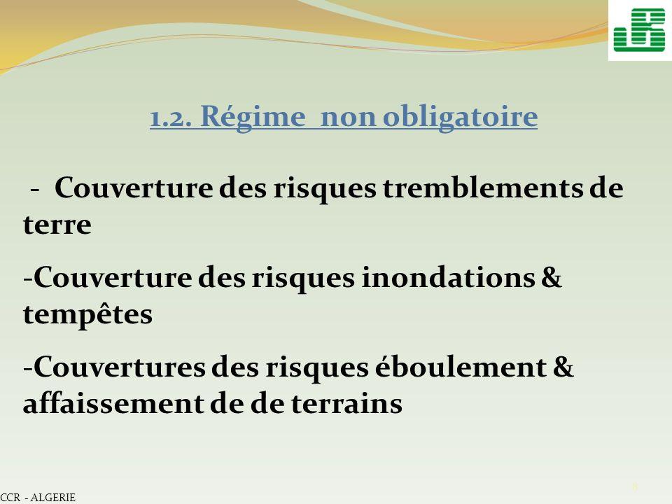 9 II- Schéma de réassurance au titre du régime obligatoire II.1.