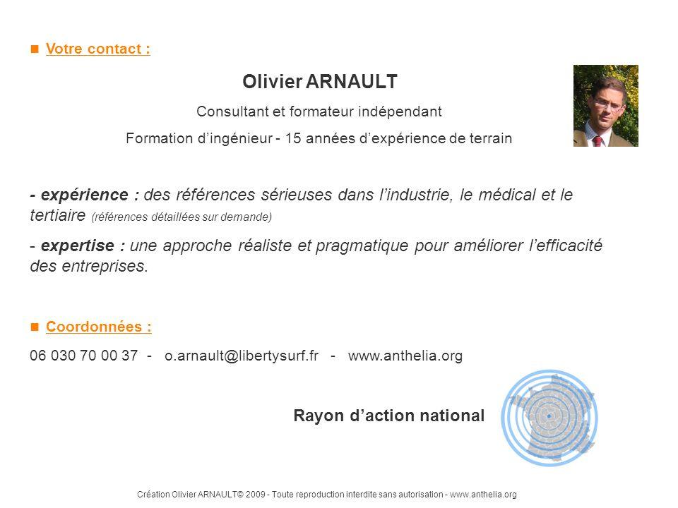 Création Olivier ARNAULT© 2009 - Toute reproduction interdite sans autorisation - www.anthelia.org Votre contact : Olivier ARNAULT Consultant et forma