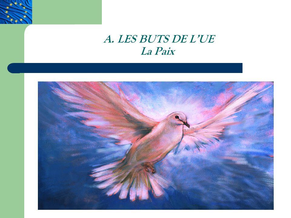 A. LES BUTS DE LUE La Paix