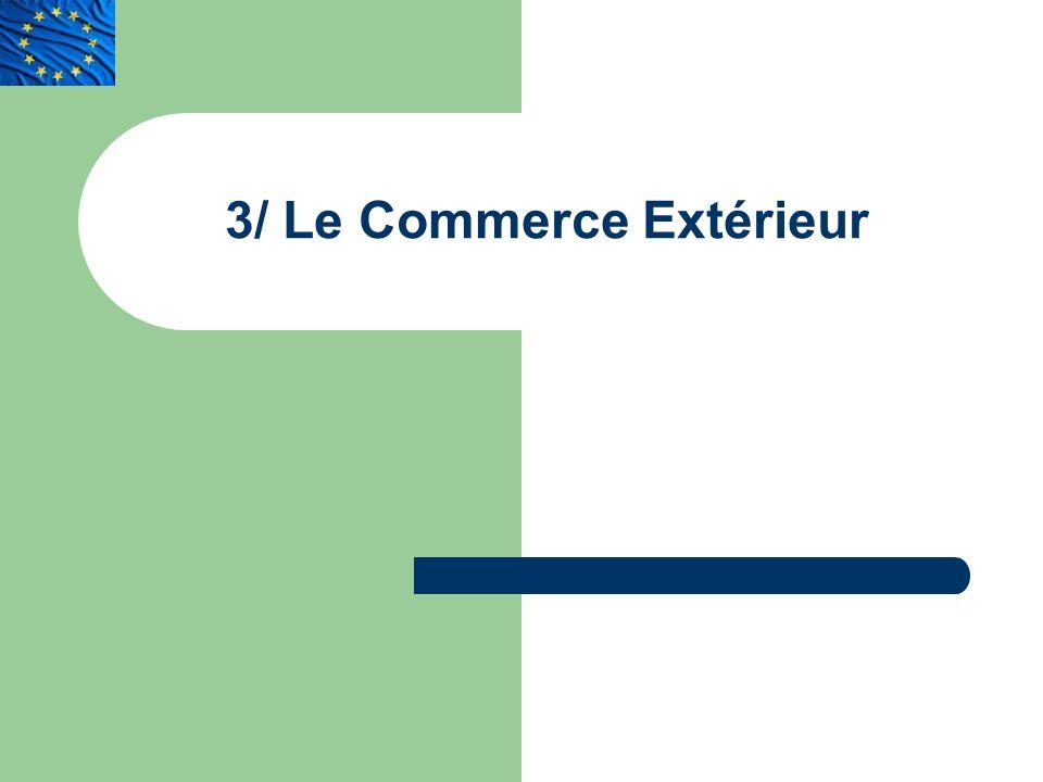 3/ Le Commerce Extérieur