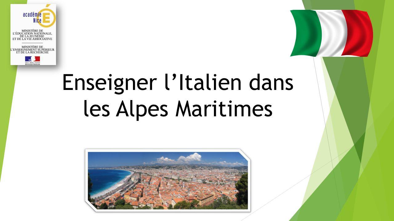 Une pertinence culturelle et linguistique Le département des Alpes Maritimes partage une histoire et une culture communes avec lItalie.