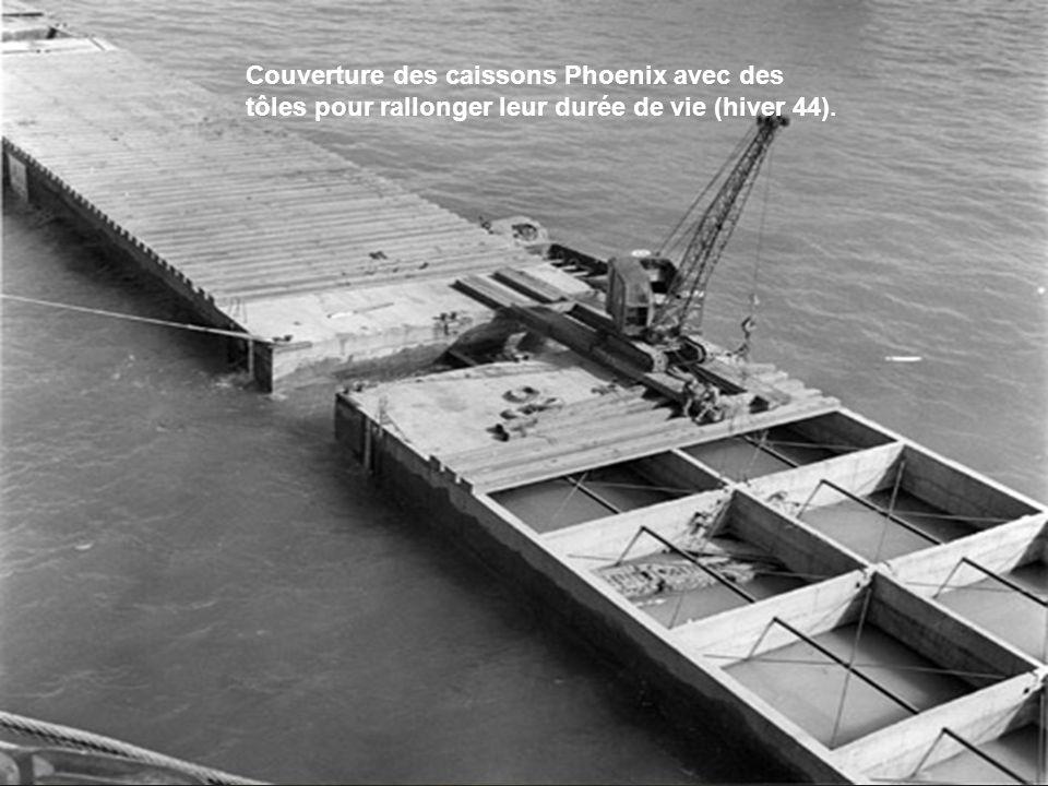 L'ensemble de la construction des divers éléments des ports artificiels est confié aux seuls britanniques dont l'industrie de guerre est déjà surexplo