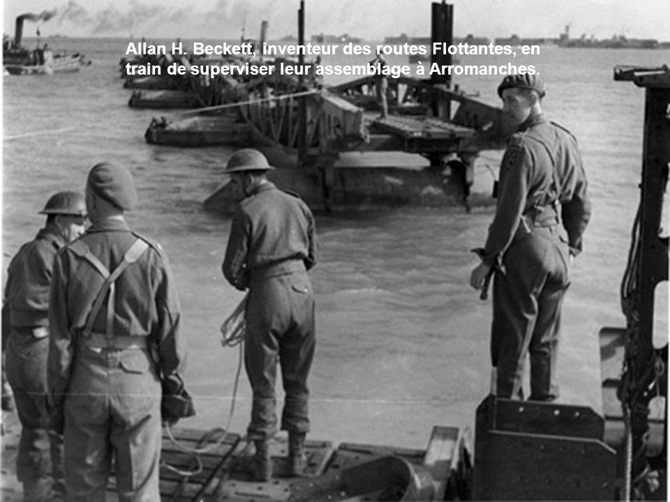 Arromanches est libéré le 6 juin au soir et dès le 7 juin, les premiers bâteaux sont coulés. Le 8 juin, les premiers caissons Phoenix sont immergés. L