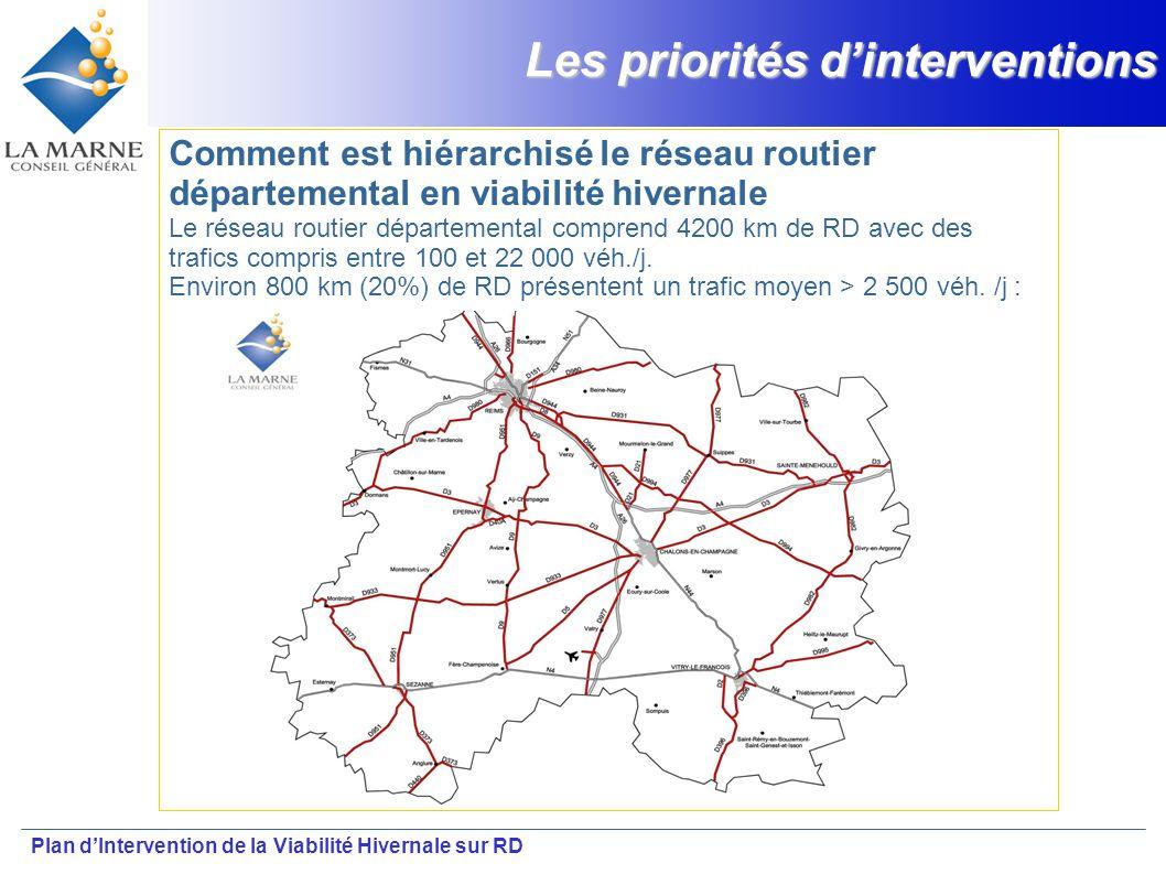 Plan dIntervention de la Viabilité Hivernale sur RD Les priorités dinterventions Comment est hiérarchisé le réseau routier départemental en viabilité