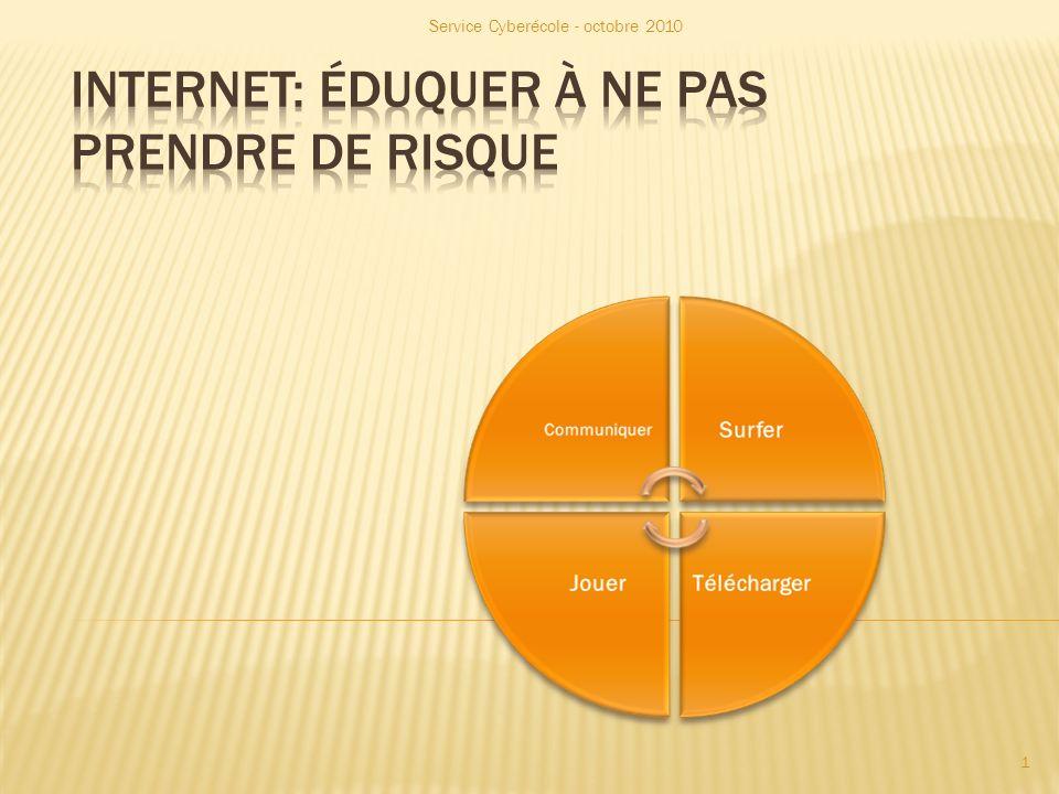 RESSOURCES INFORMATIVES Guide « Jeunes et Internet » Guide juridique destiné aux enseignants : http://www.enseignement.be/index.php?page =26149 http://www.enseignement.be/index.php?page =26149 Guide juridique destiné aux élèves : http://www.enseignement.be/index.php?page =26149 http://www.enseignement.be/index.php?page =26149 Service Cyberécole - octobre 2010 22