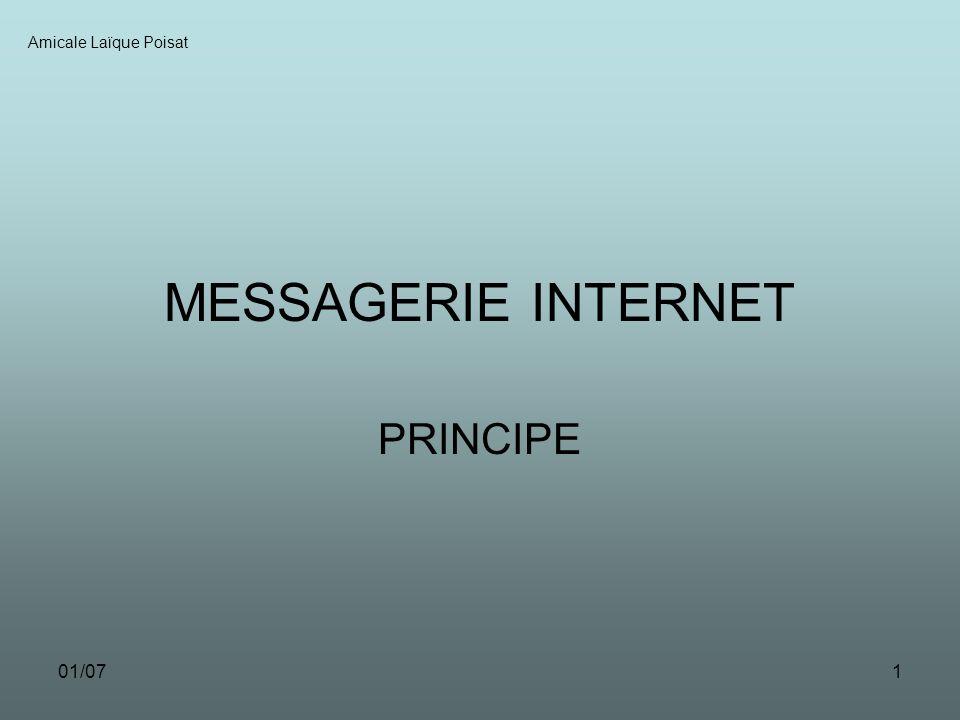 01/071 MESSAGERIE INTERNET PRINCIPE Amicale Laïque Poisat