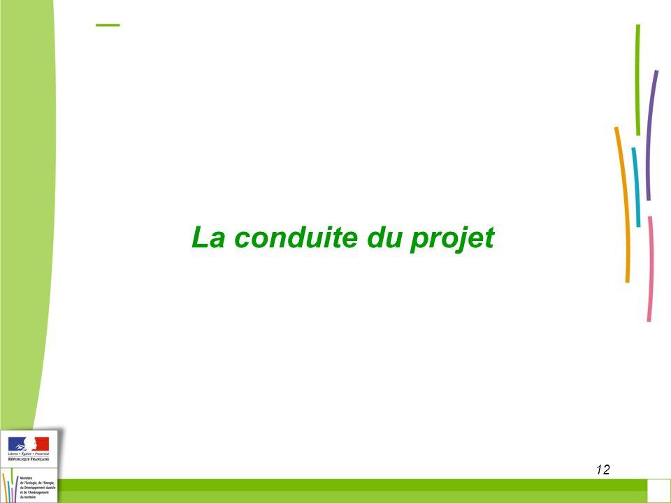 12 La conduite du projet