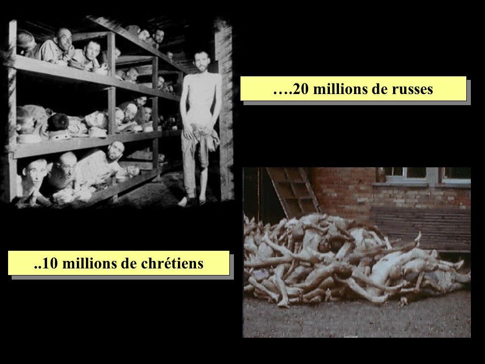 …1900 prêtres catholiques qui furent assasinés, massacrés, violés, brûlés, morts de faim et humiliés, tandis que les peuples russe et alemand regardaient ailleurs.