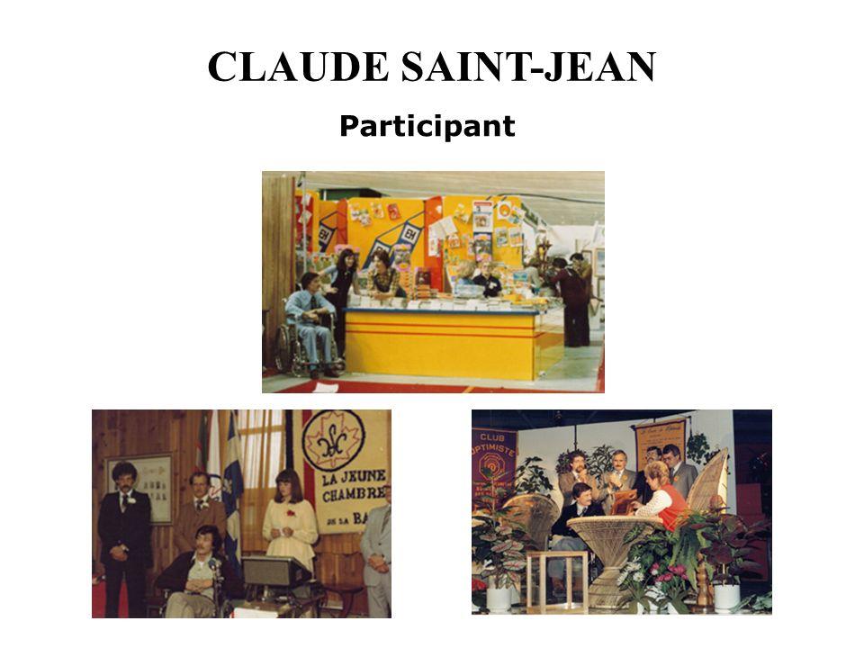 CLAUDE SAINT-JEAN Participant