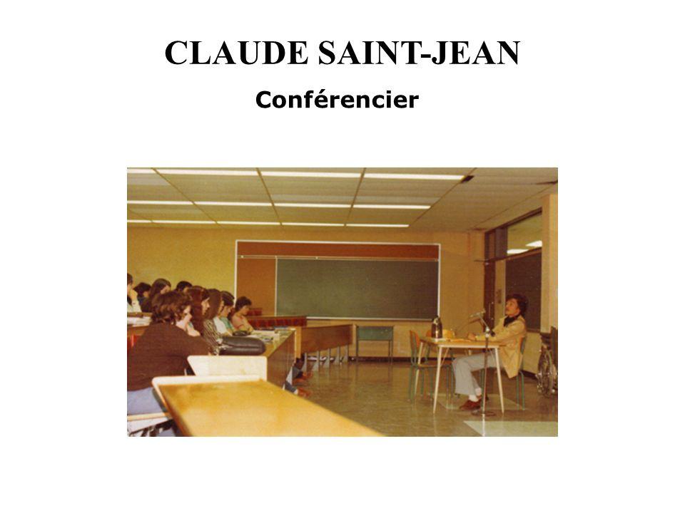 CLAUDE SAINT-JEAN Conférencier