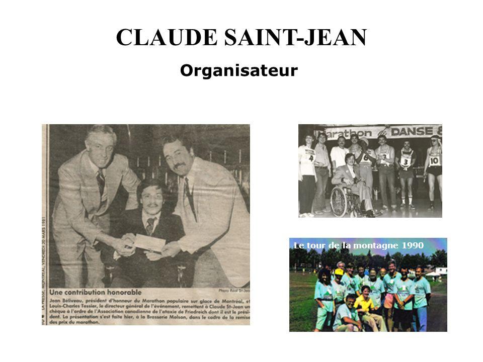 CLAUDE SAINT-JEAN Organisateur Le tour de la montagne 1990