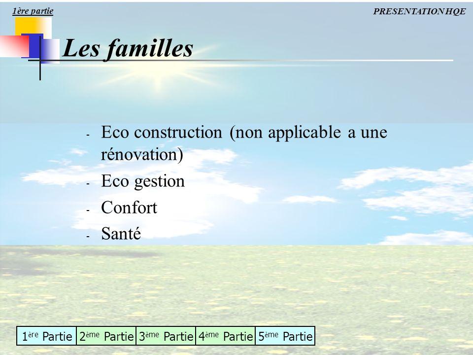 1 è re Partie2 è me Partie3 è me Partie4 è me Partie5 è me Partie - Eco construction (non applicable a une rénovation) - Eco gestion - Confort - Santé