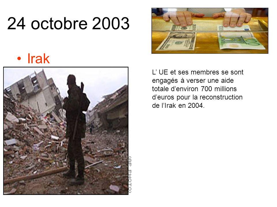 20 octobre 2003 Réunion de crise a lOTAN Les ambassadeurs se sont réunis pour évoquer la défense européenne.