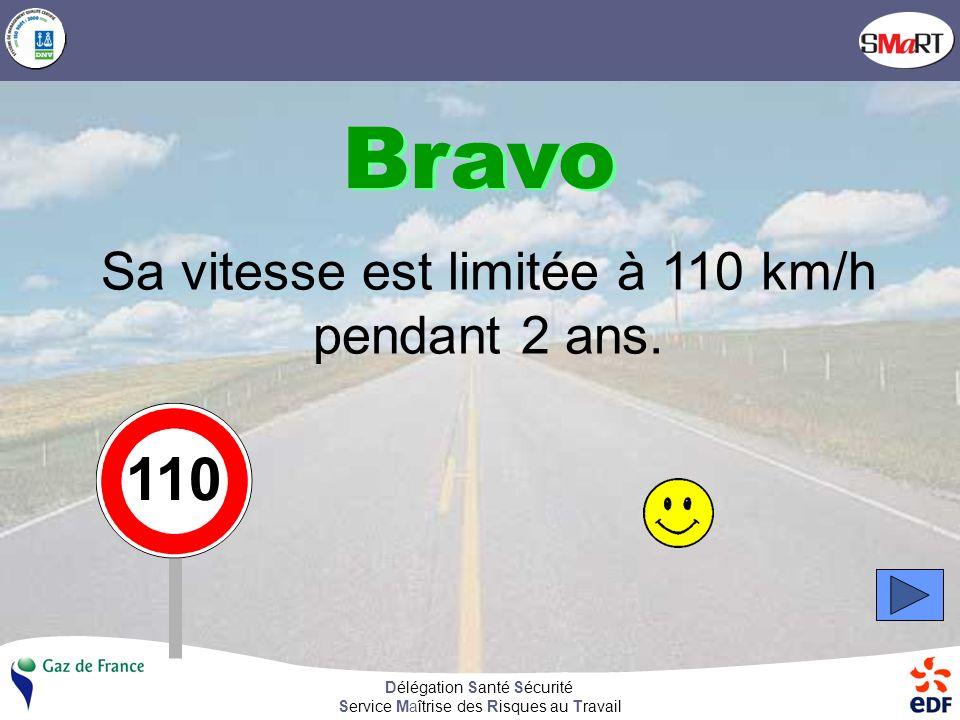 Délégation Santé Sécurité Service Maîtrise des Risques au Travail En France, la vitesse maximale autorisée sur autoroute est de 130 km/h.