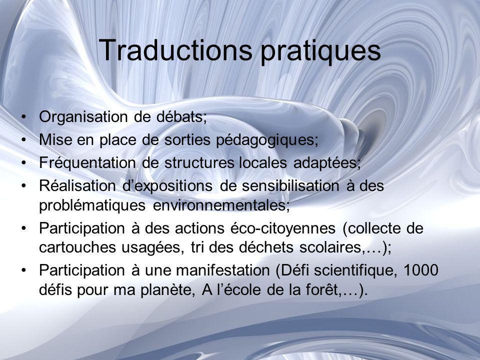 Sujets exploitables Le climat; Latmosphère; Leau; Locéan; Lagriculture; Les forêts; Les déchets; Règles et responsabilité.