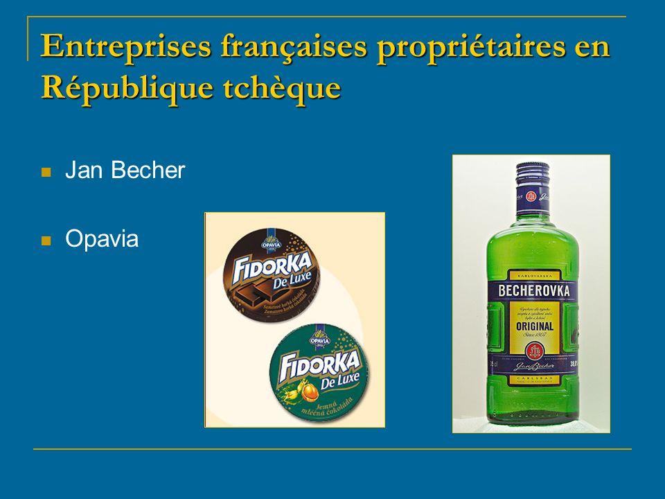 Entreprises françaises propriétaires en République tchèque Jan Becher Opavia