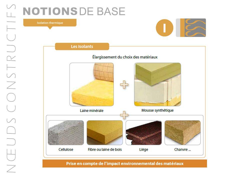 N Œ U D S C O N S T R U C T I F S DE BASE Prise en compte de limpact environnemental des matériaux