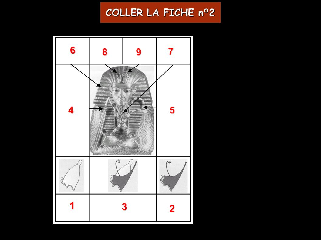 98 7 6 54 3 2 1 COLLER LA FICHE n°2